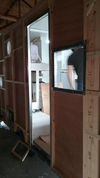 Front door jamb installed