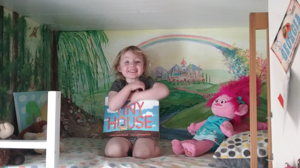Hazel got her book!