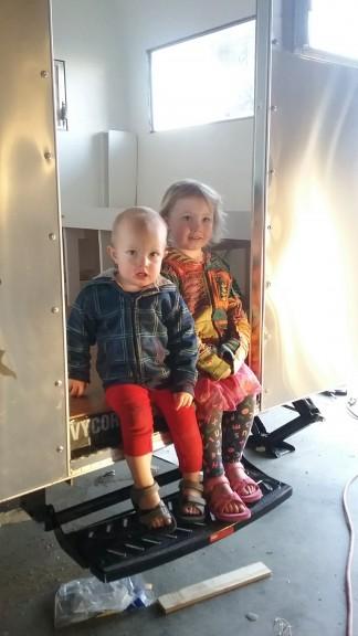 The kiddos like bonding on the step :)