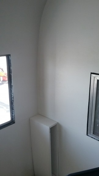 This is the windows from the inside, I think it will be pretty simple to trim out.