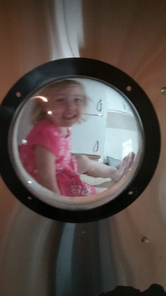 Hazel loves her bunk!