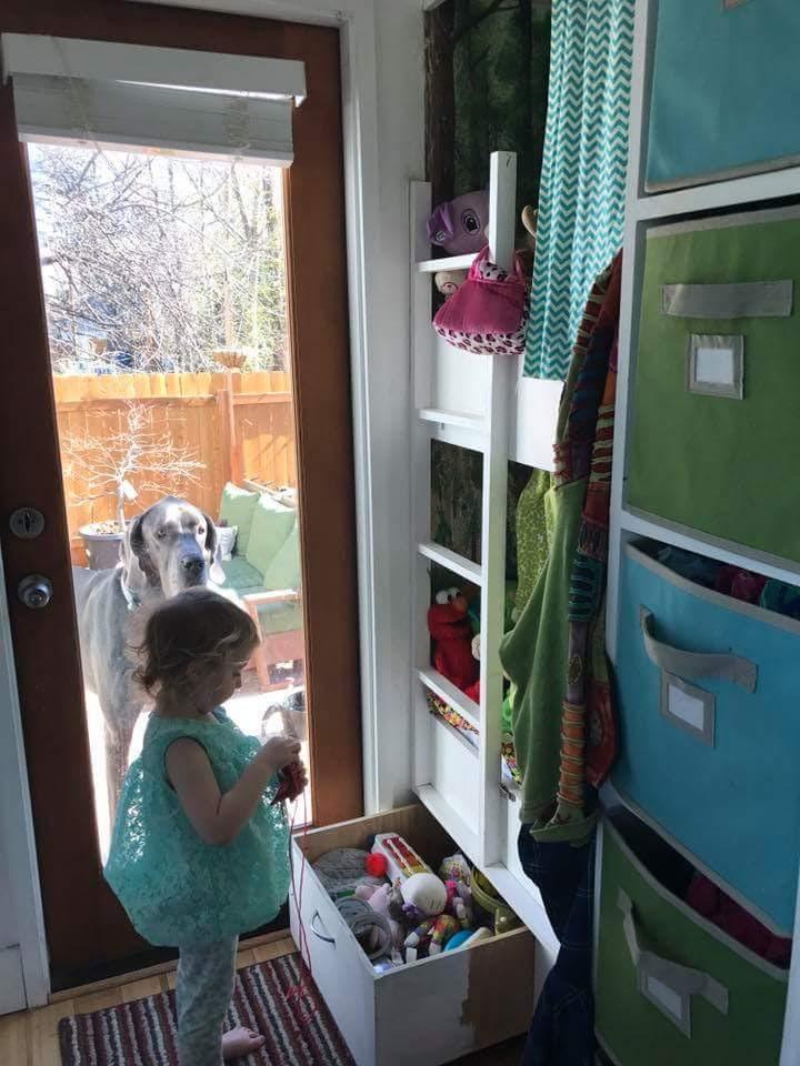 Hazel showed Christian ALL of her toys!