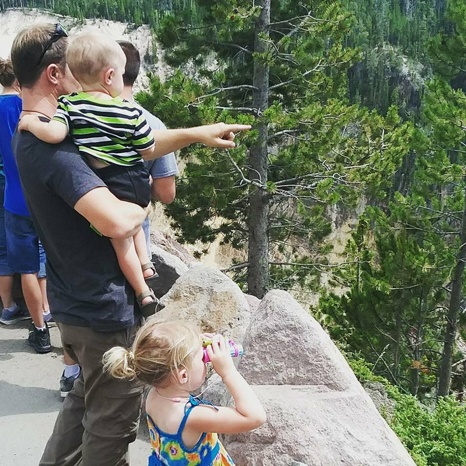 sight seeing at Yellowstone