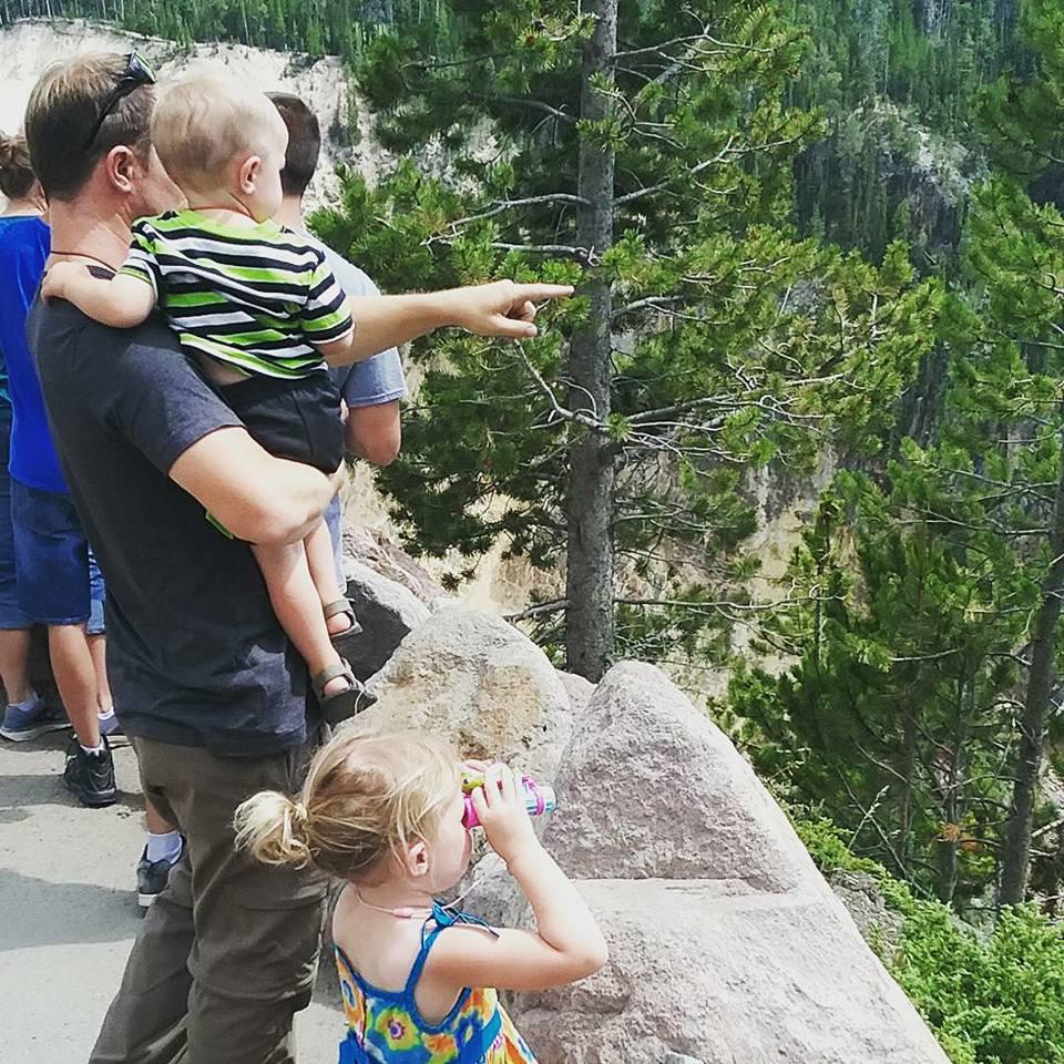 sight seeing at Yellowstone