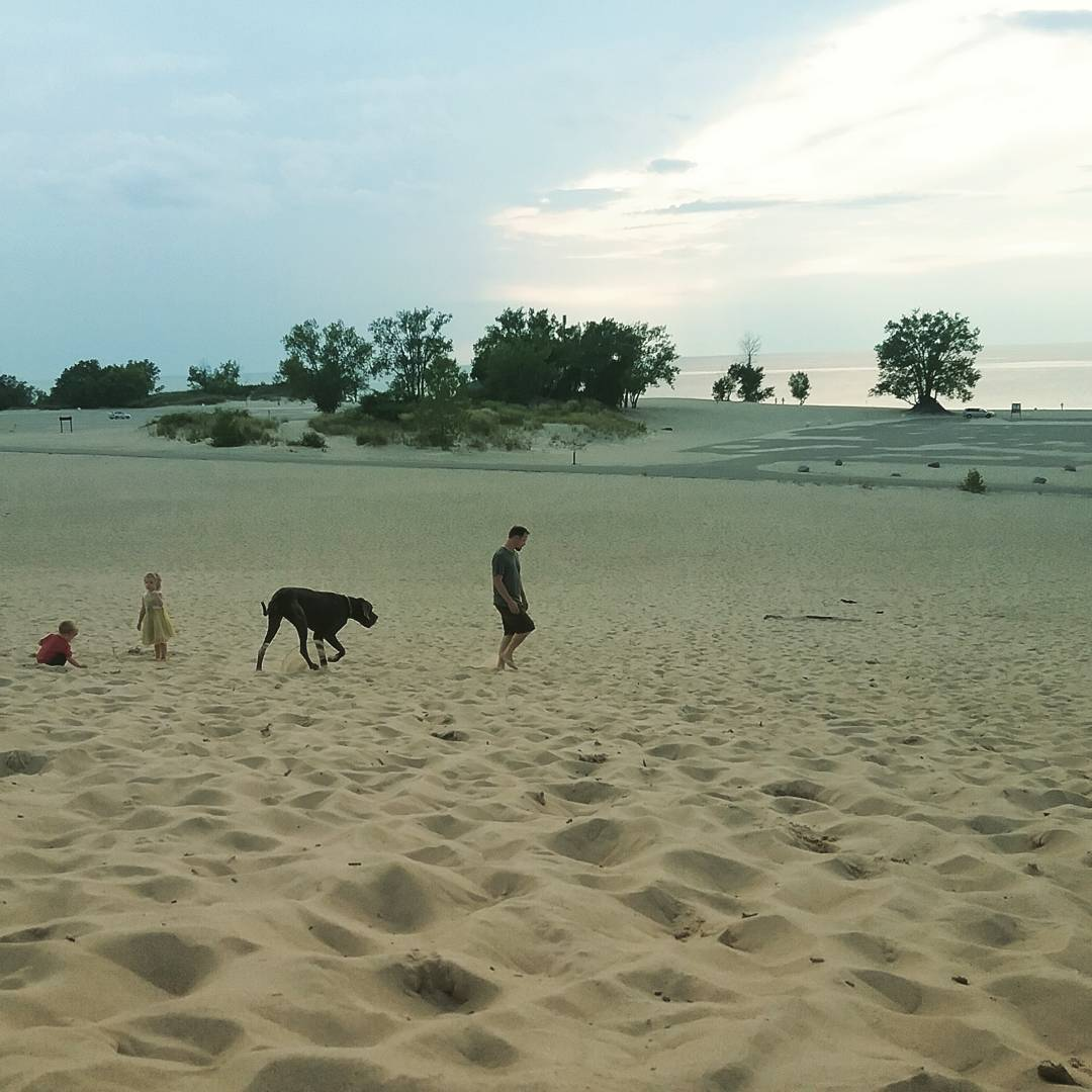 Sand dunes in Michigan
