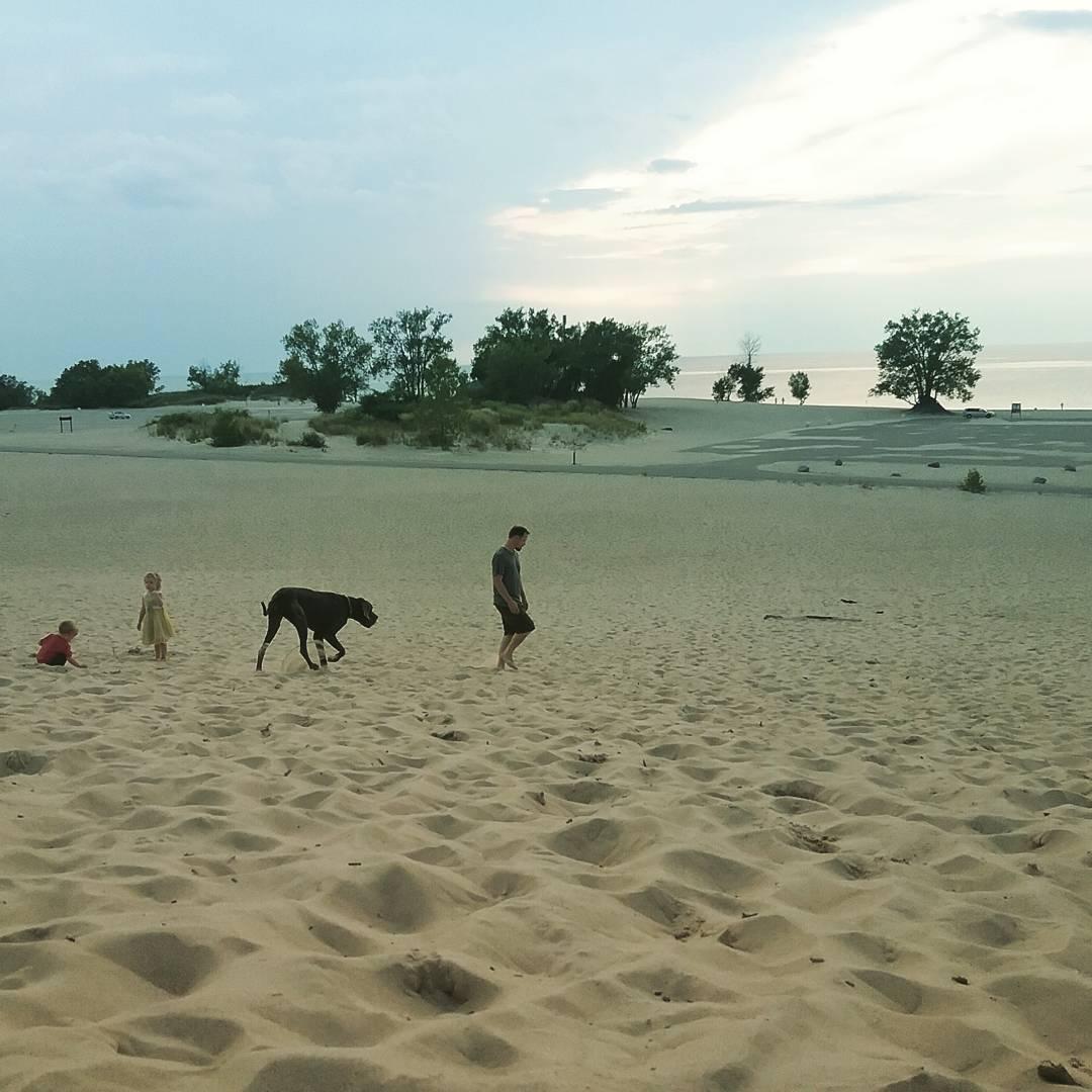 Sand dunes in Michigan