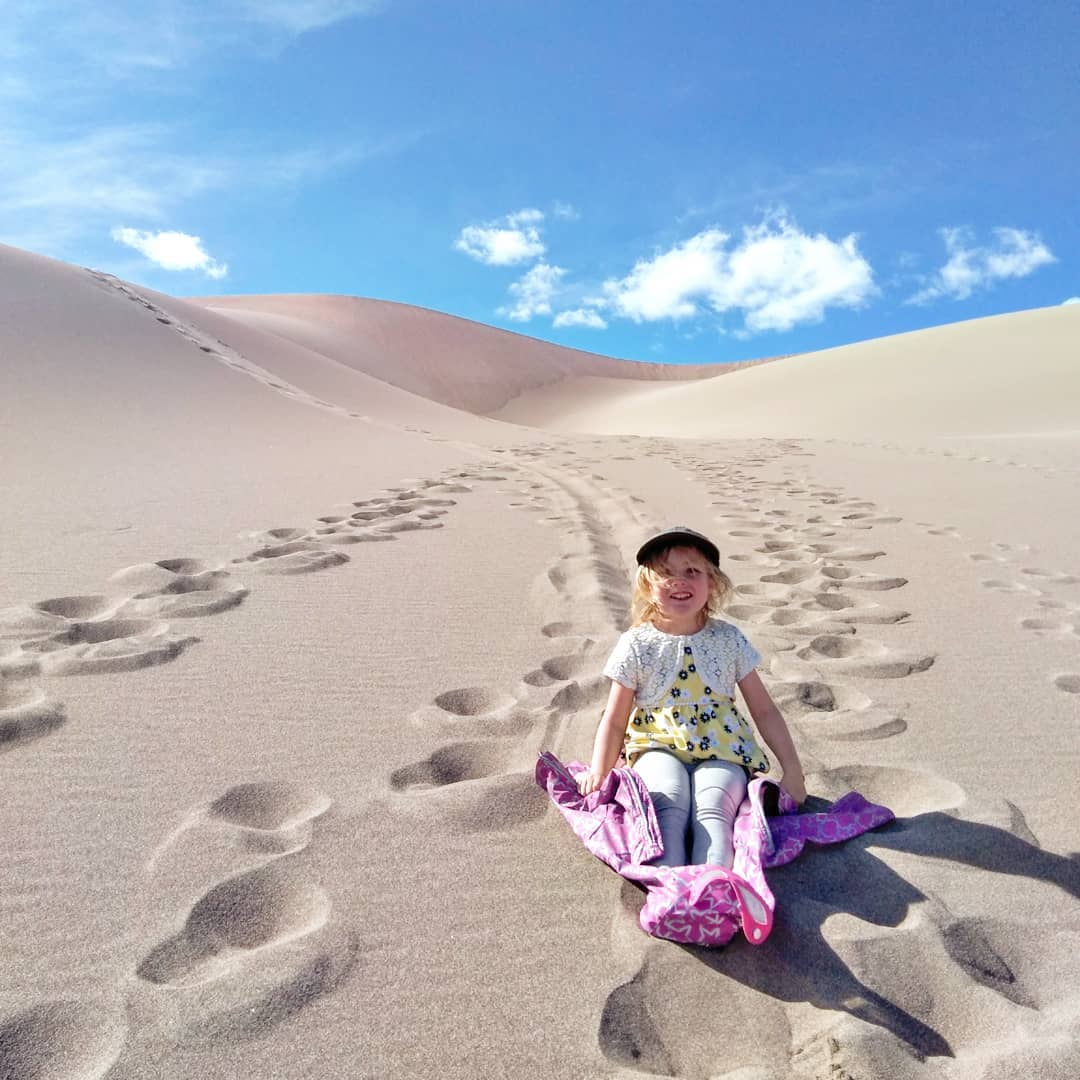 The dop of the highest sand dune in North America, Great Sand dune NP